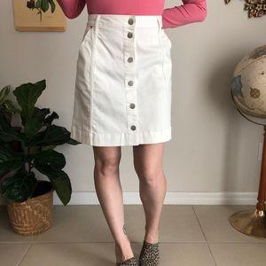 Lauren Conrad Button Front Denim Skirt NWT